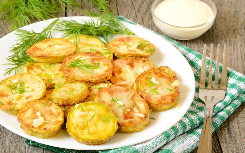 кабачки в духовке с чесноком рецепт с фото пошагово