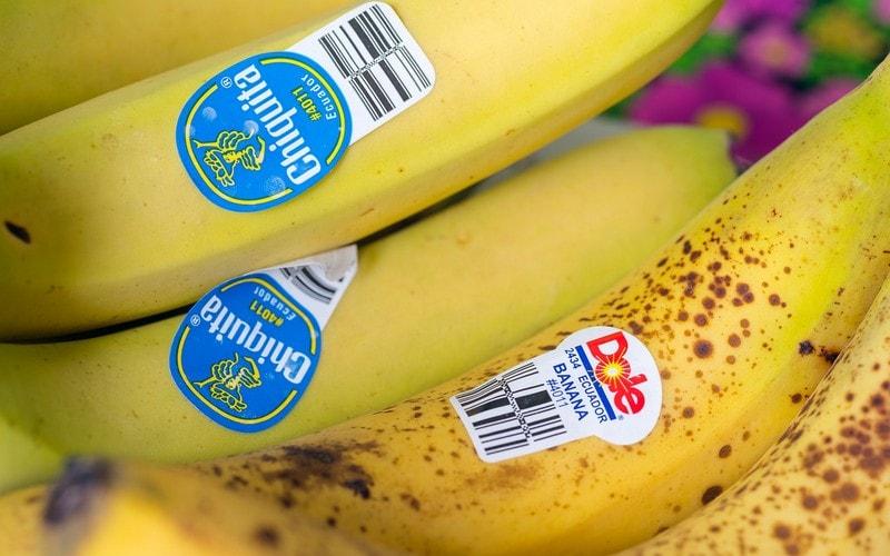 Наклейка на банане с кодом 4011