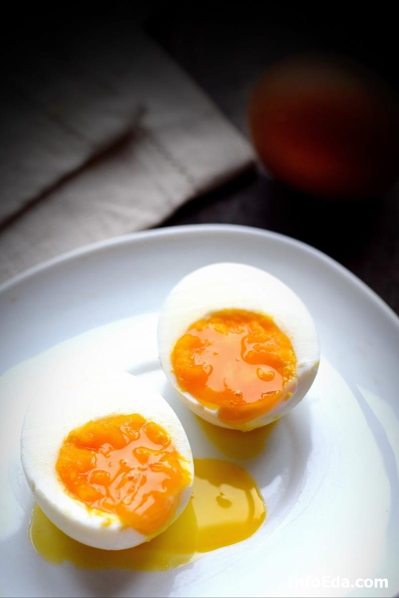 Яйцо в мешочек в разрезе