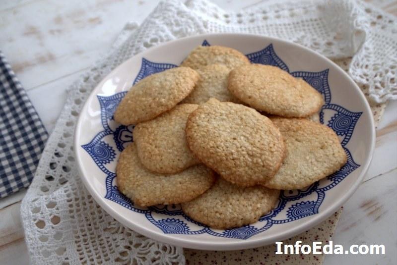 Домашнее хрустящее кунжутное печенье