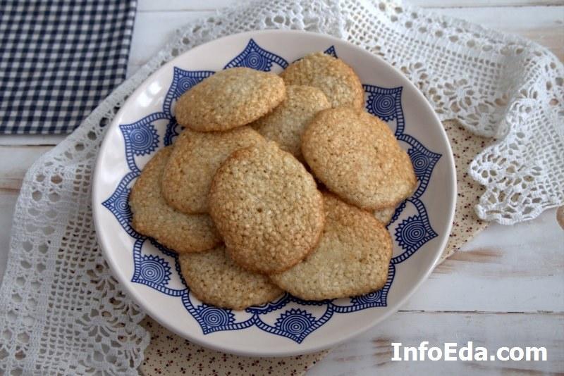 Рецепт кунжутное печенье в духовке