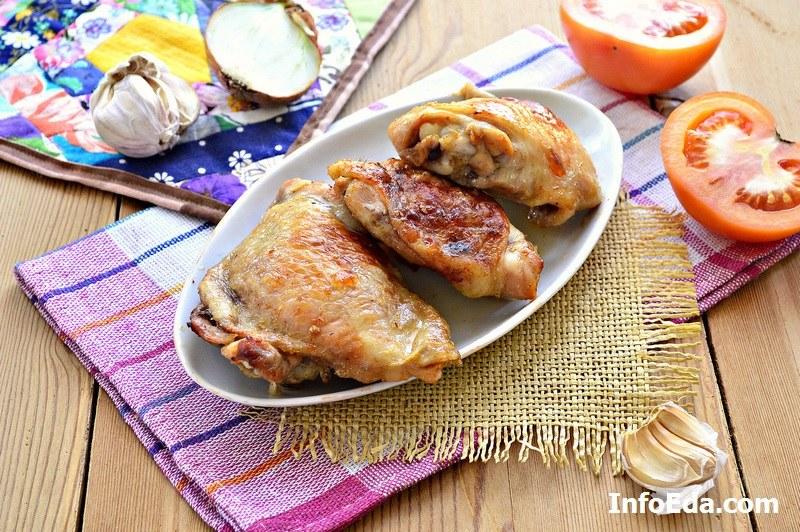 Рецепт куриные бедра с хрустящей корочкой в духовке
