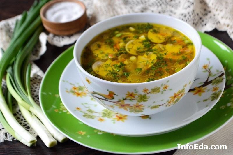 Грибной суп из шампиньонов фото рецепт