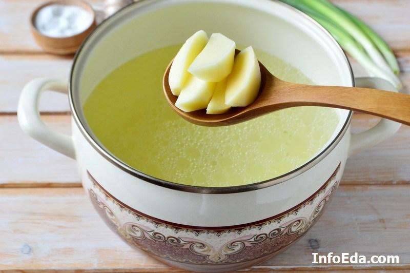 Грибной суп из шампиньонов картофель