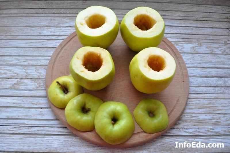 Печеные яблоки с творогом - яблоки
