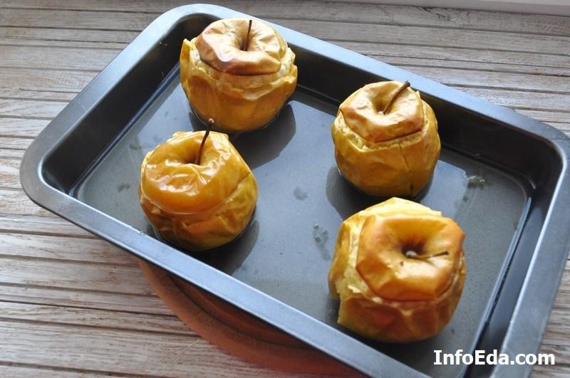 Печеные яблоки с творогом - запекаем яблоки