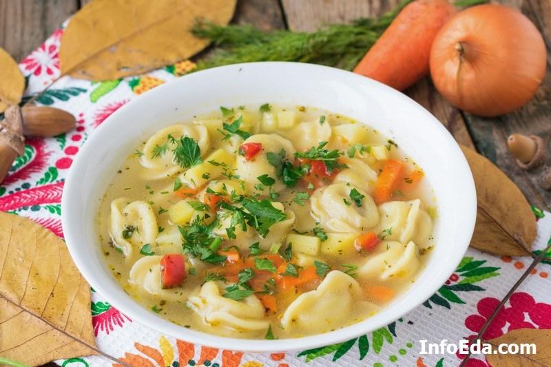 Рецепт с фото суп с пельменями
