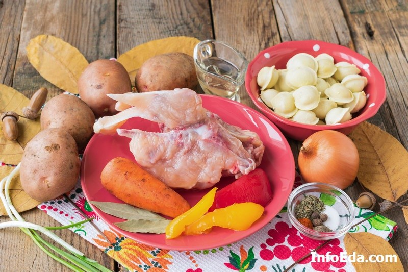 Суп с пельменями ингредиенты