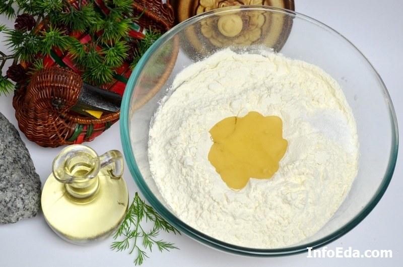Пирожки с квашеной капустой масло и соль