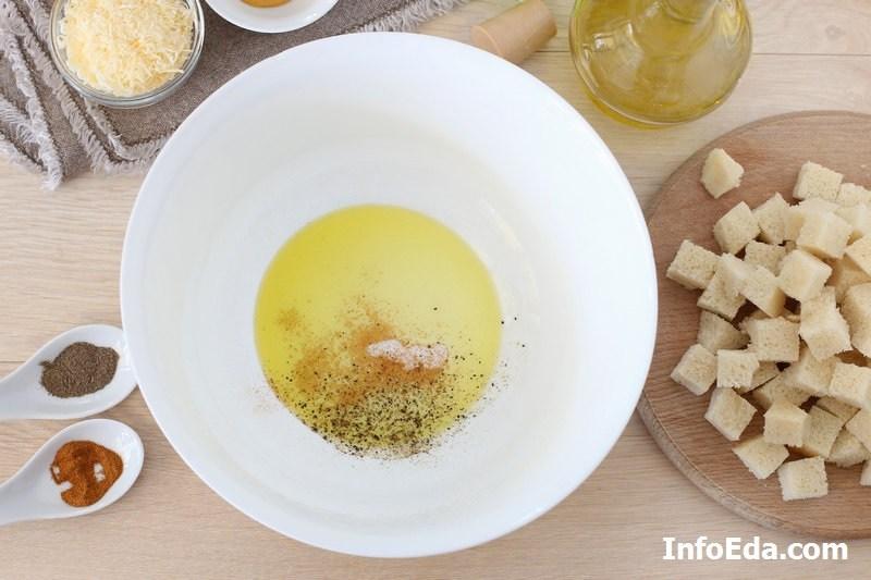 Салат Цезарь - оливковое масло