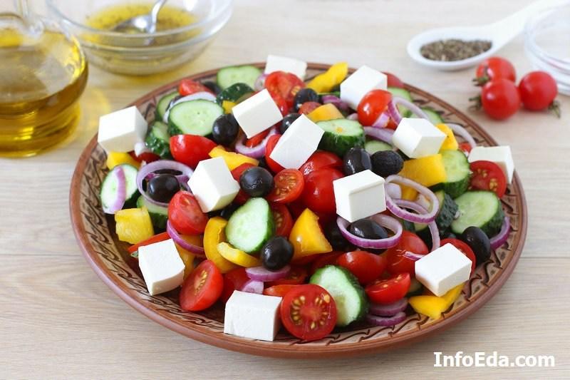 Греческий салат - фета