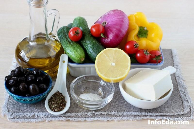 Классический греческий салат ингредиенты