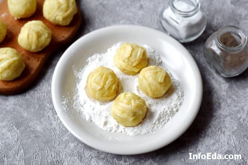 Картофельно-сырные крокеты - шарики