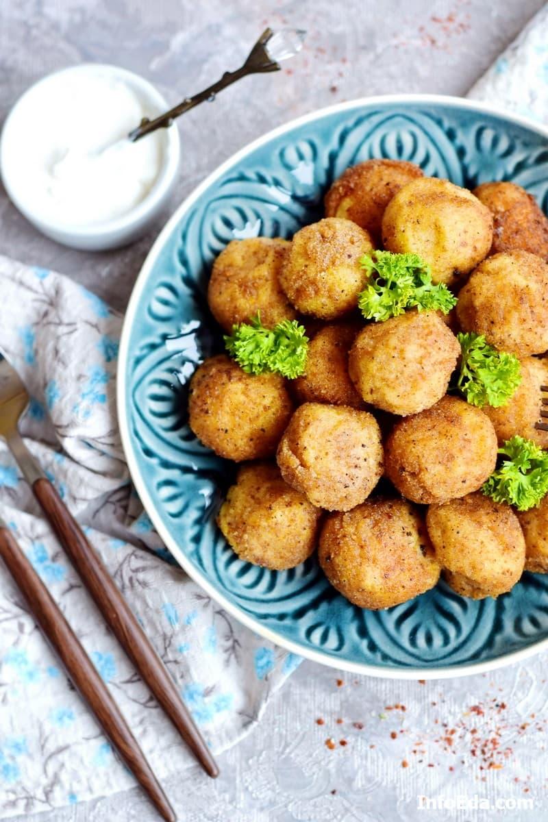 Картофельно-сырные крокеты - фото рецепт
