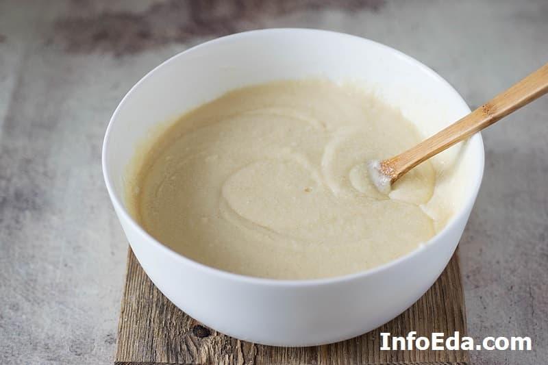 Манник - смешиваем тесто