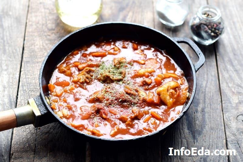 Суп харчо - томатная паста в зажарке