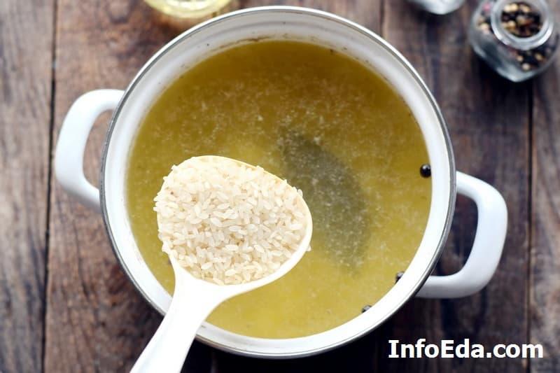 Суп харчо - рис в бульоне