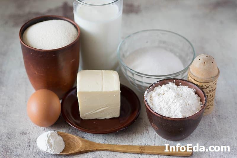 Ингредиенты для манника на кефире