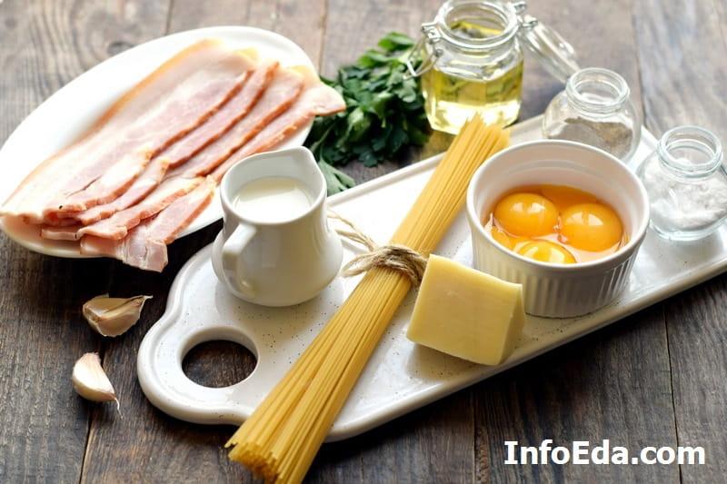 Паста Карбонара - ингредиенты