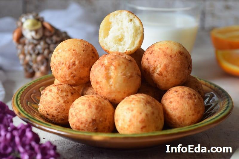 Пышные творожные шарики пончики