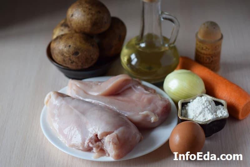 Суп с куриными фрикадельками - ингредиенты
