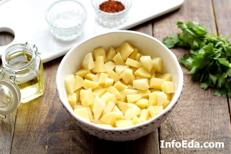 Рассольник - кубики картофеля