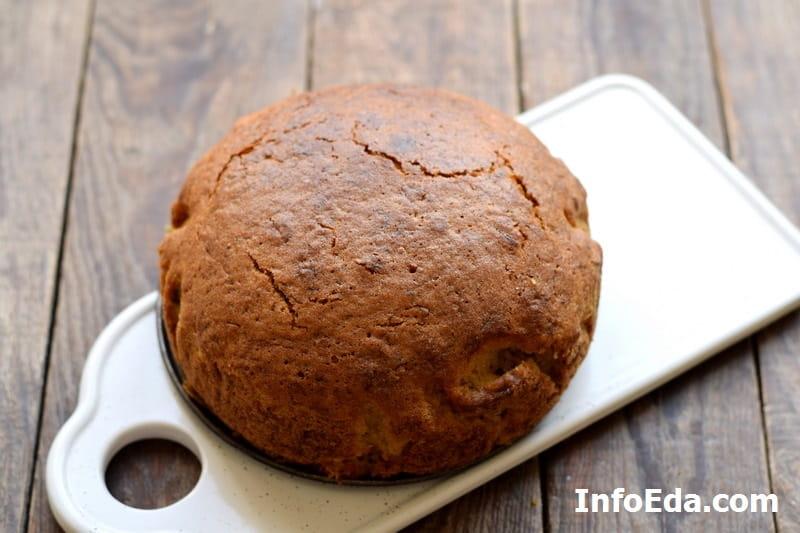 Морковный пирог - готовый пирог из духовки
