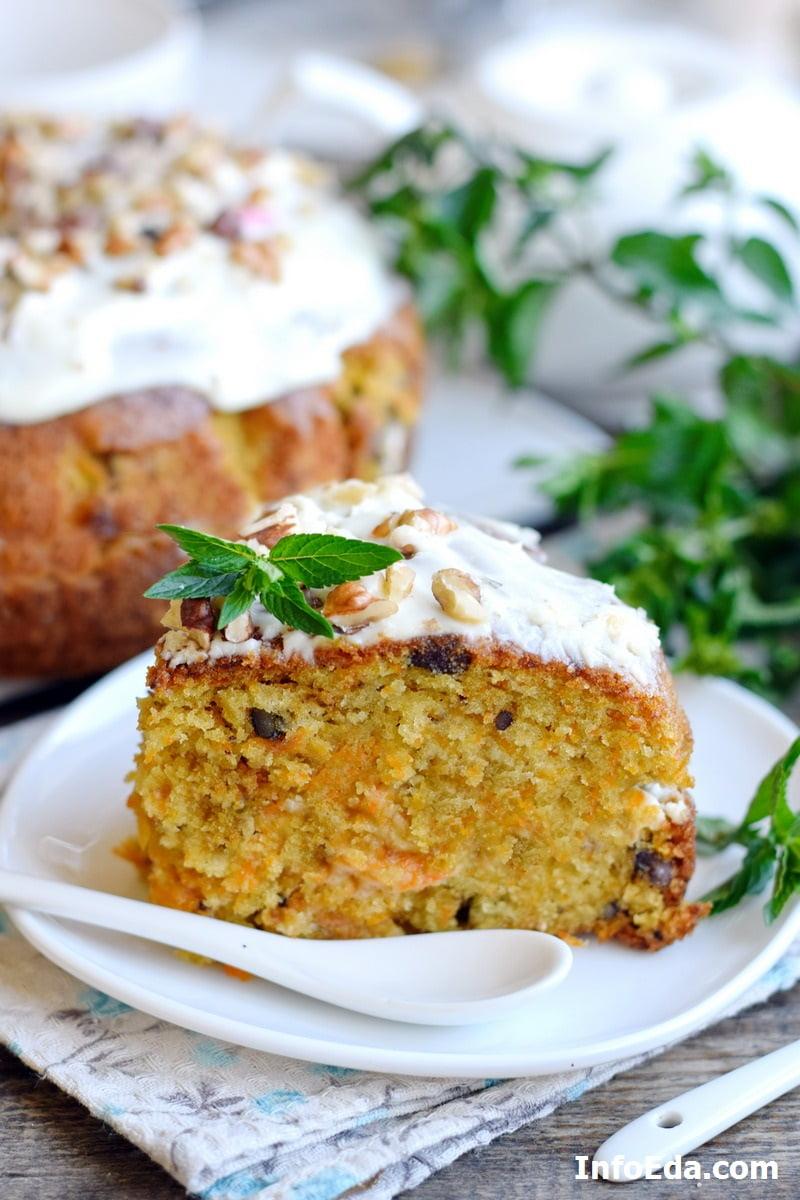 Вкусный морковный пирог с орехами и корицей