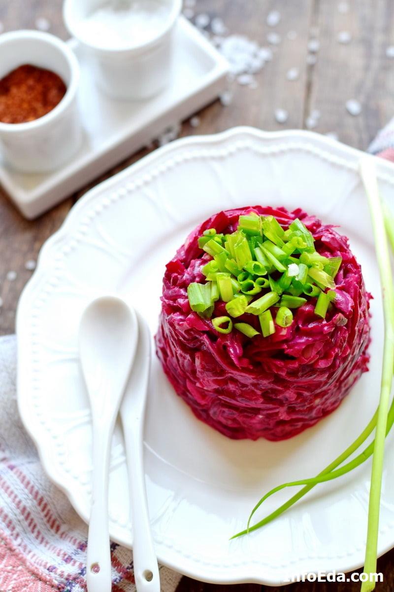Вкусный салат из вареной свеклы с майонезом