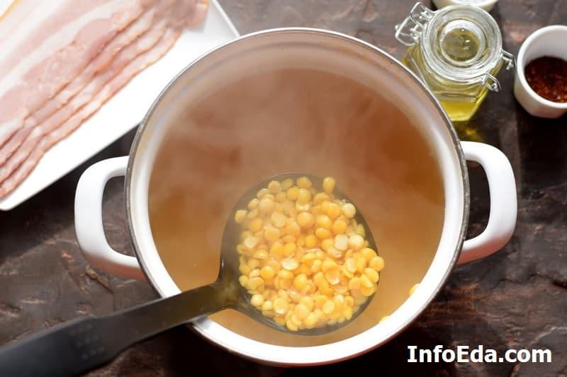 Гороховый суп - варка гороха
