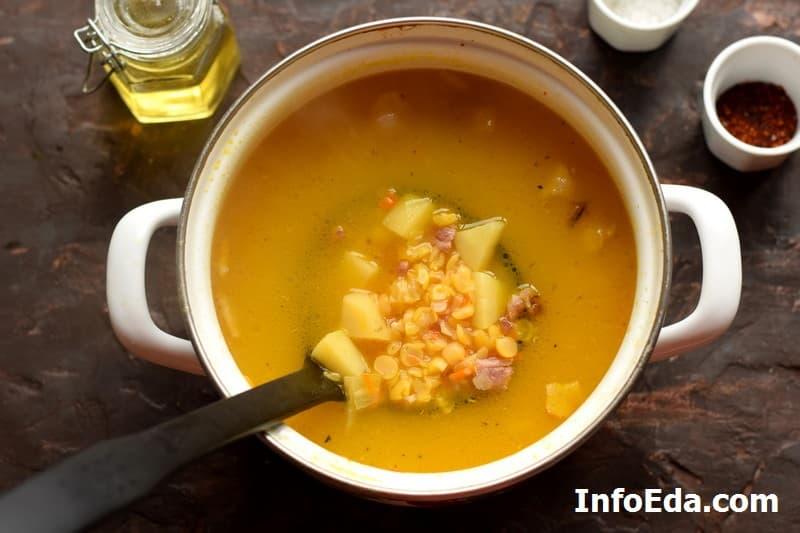 Гороховый суп - готовый суп