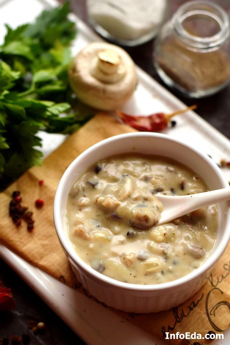 Сливочно-грибной соус из шампиньонов
