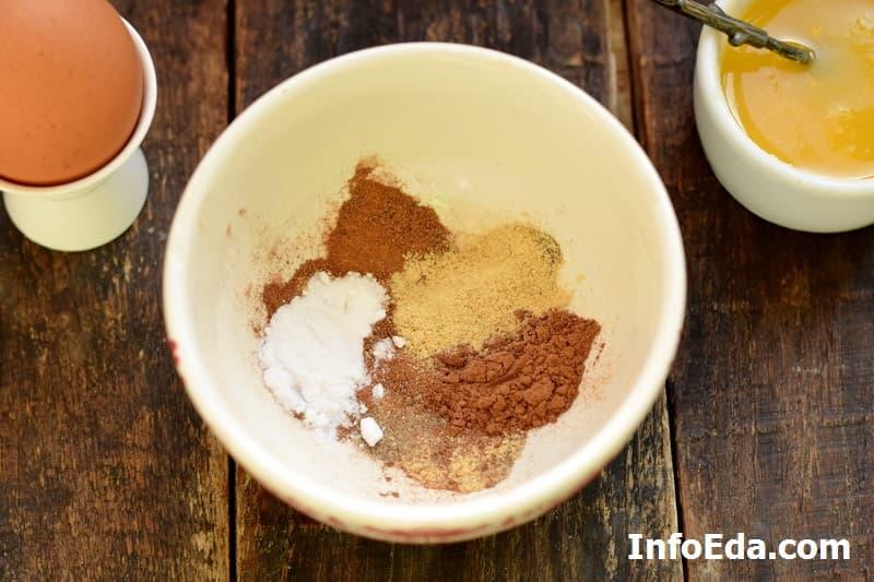 Имбирное печенье - пряности и какао