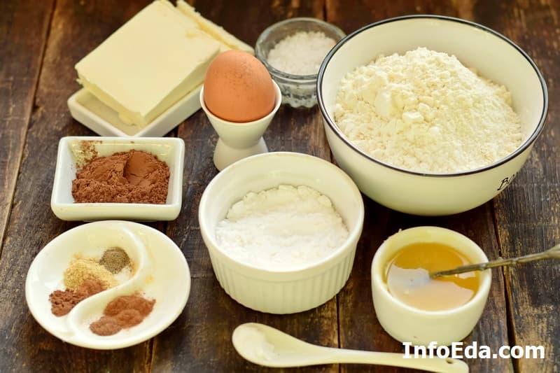 Ингредиенты для имбирного печенья