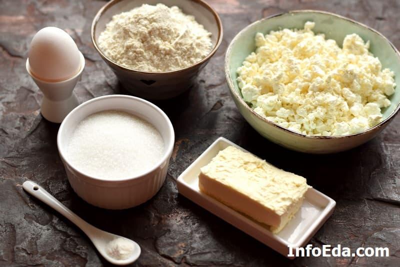 Ингредиенты для печенья Гусиные лапки