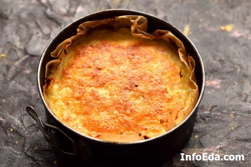 Картофельная запеканка с фаршем - после духовки