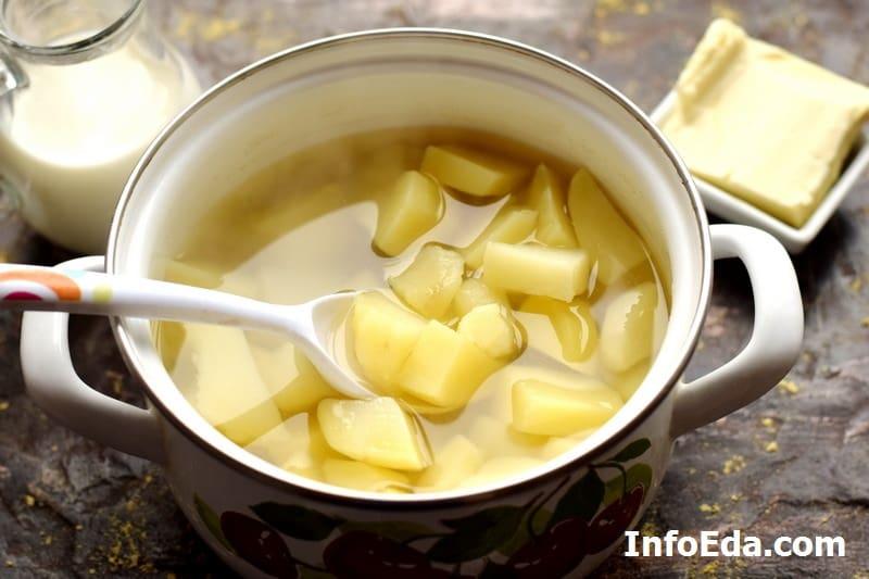 Картофельное пюре - сваренный картофель