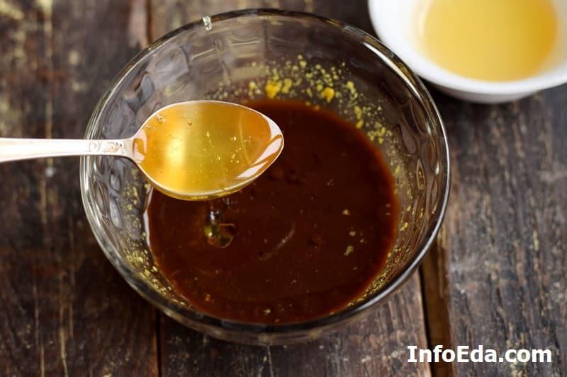 Свиные ребра в духовке - мед, уксус и масло