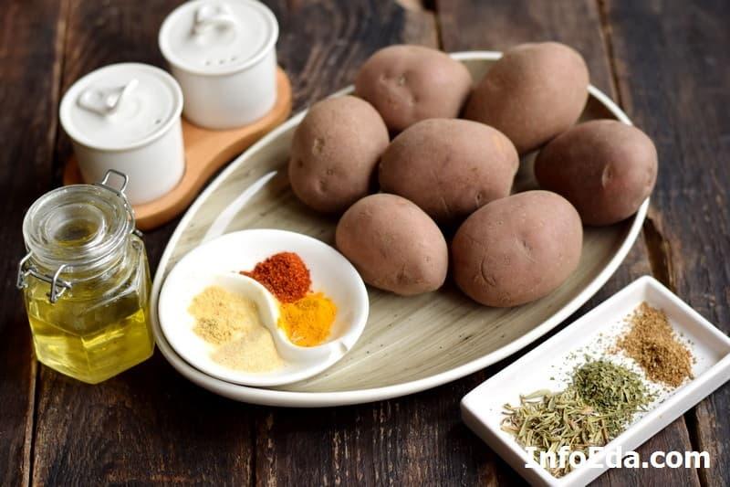 Ингредиенты для картофеля по-деревенски