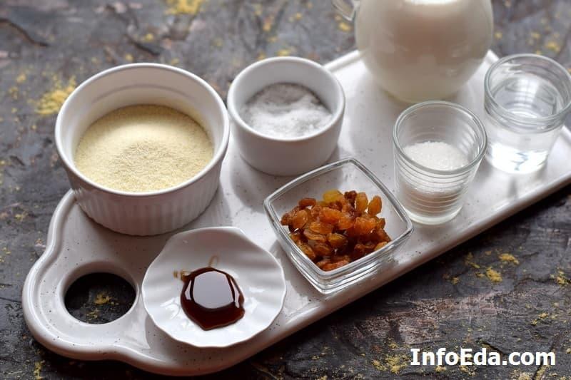 Ингредиенты для манной каши