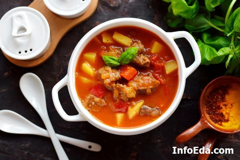 Суп гуляш по-венгерски из говядины