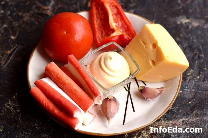 Ингредиенты для салата Красное море