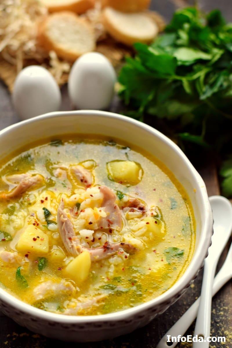 Суп из курицы с рисом и картошкой