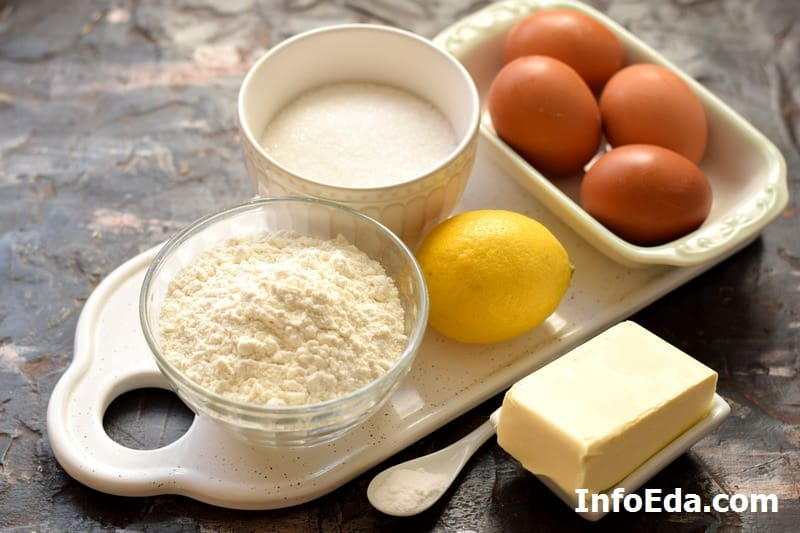 Ингредиенты для лимонного пирога