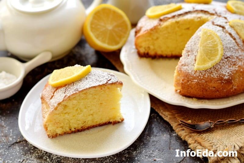 Кусочек пирога с лимоном
