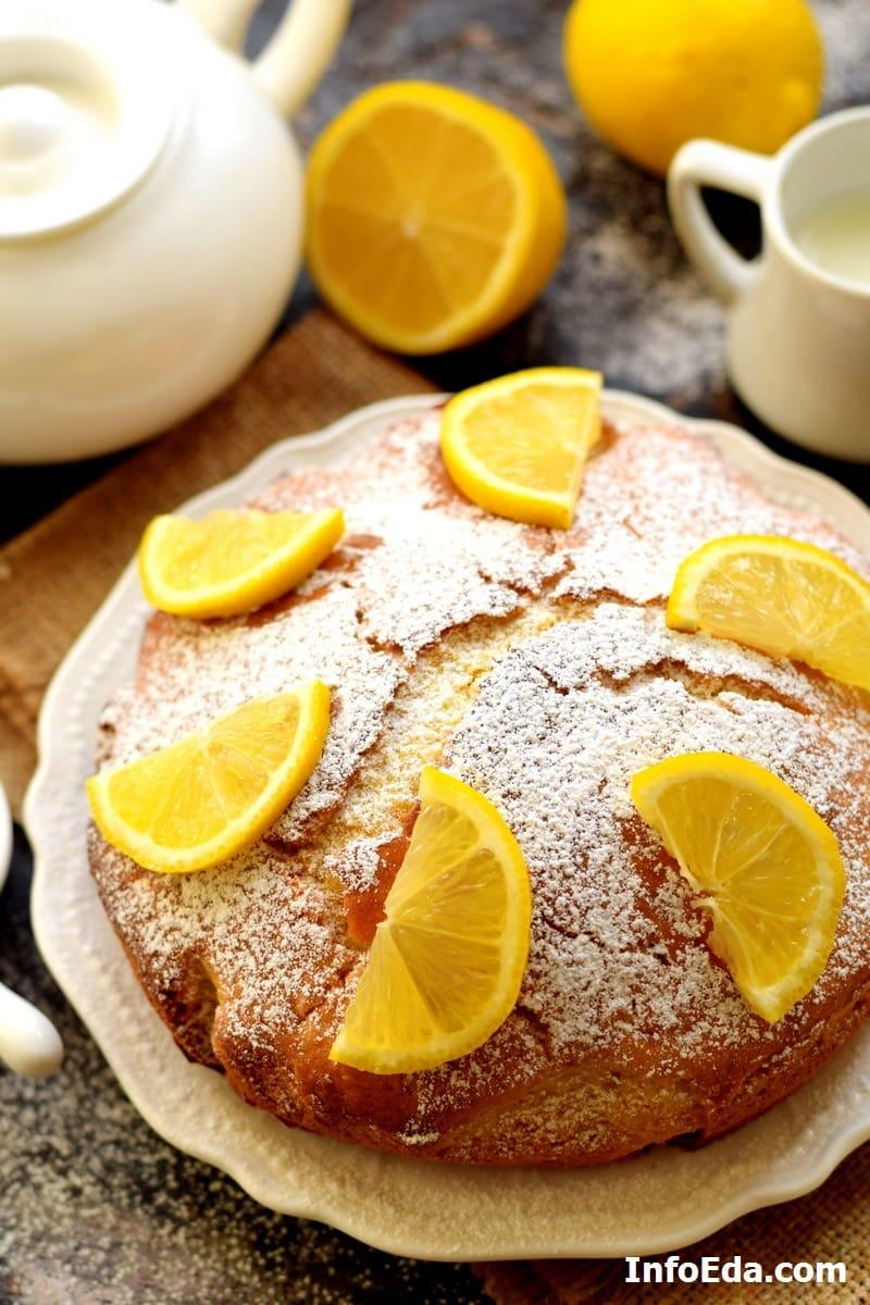 Вкусный пирог с лимоном