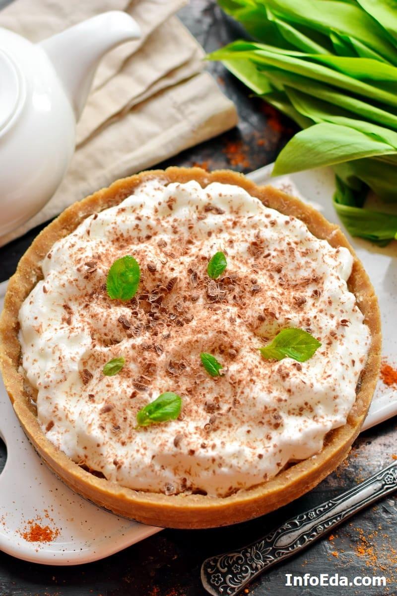 Пирог Banoffee Pie с печеньем и сгущенкой
