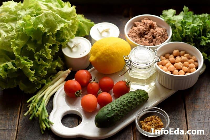 Ингредиенты для средиземноморского салата
