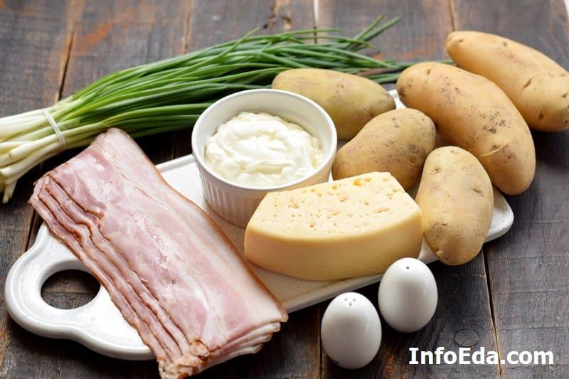 Запеченные половинки картофеля ингредиенты