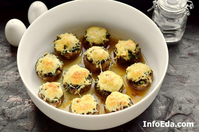 Запеченные в духовке грибы
